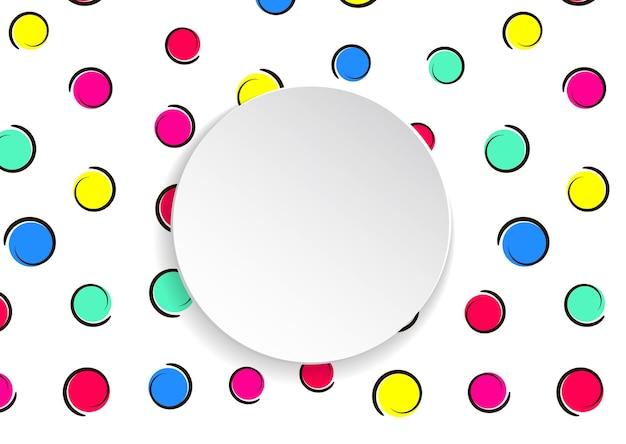 Coriandoli colorati pop art