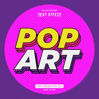 Effetto di testo dint pop art, stile di testo, testo modificabile