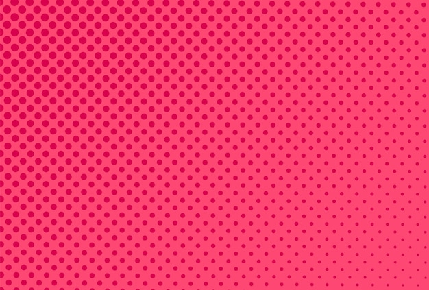 Sfondo mezzitoni pop art. modello rosa comico. stampa con effetto mezzo tono. trama retrò dei cartoni animati