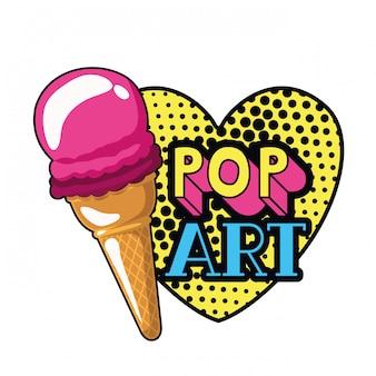 Icona del gelato pop art