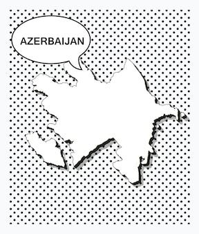 Mappa pop art dell'azerbaigian