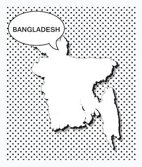 Mappa pop art del bangladesh