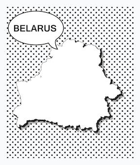 Mappa pop art della bielorussia