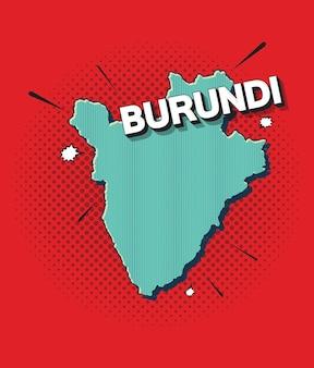 Mappa pop art del burundi