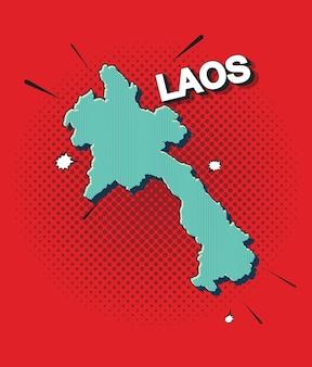 Mappa pop art del laos