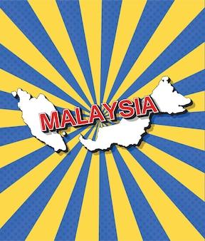 Mappa pop art della malesia