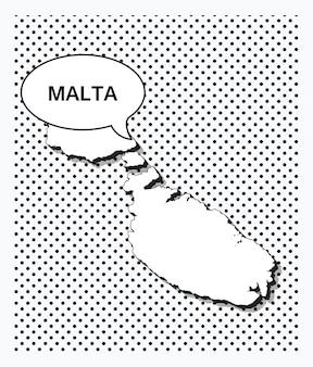 Mappa pop art del mali