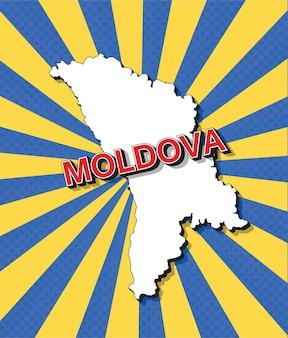 Mappa pop art della moldavia