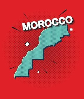 Mappa pop art del marocco