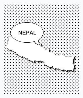 Mappa pop art del nepal