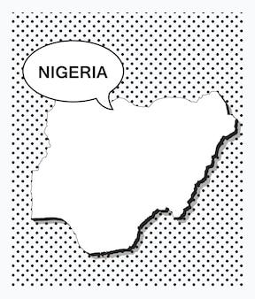 Mappa pop art della nigeria