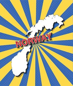 Mappa pop art della norvegia