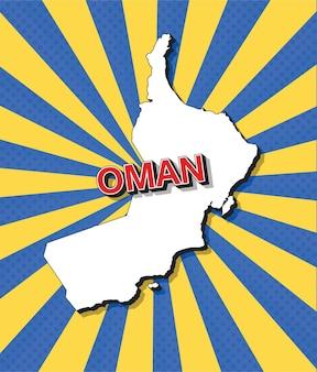 Mappa pop art dell'oman
