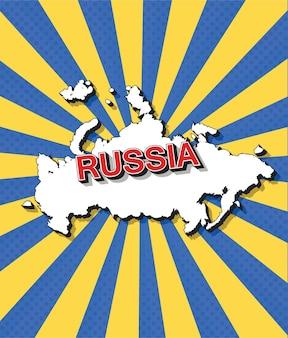 Mappa pop art della russia