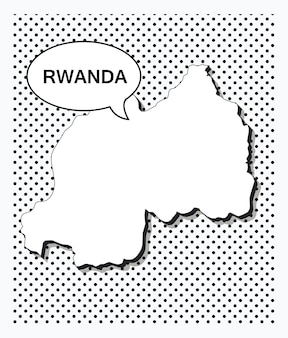 Mappa pop art del ruanda