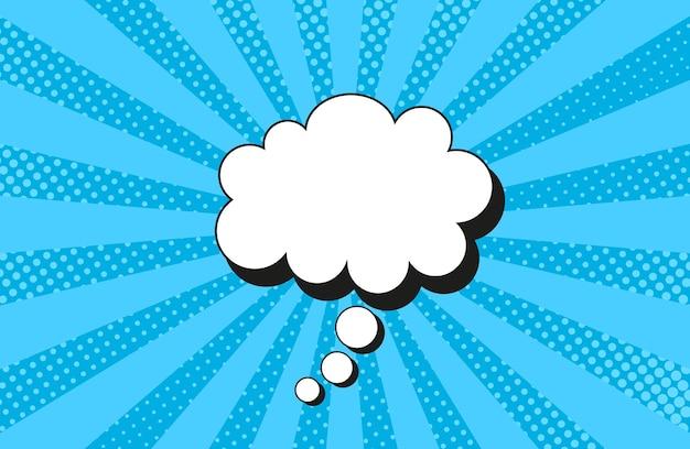 Modello pop art. sfondo blu comico. illustrazione vettoriale.