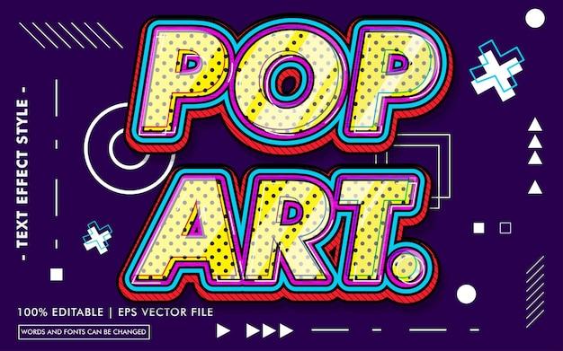 Stile di effetti del testo pop art