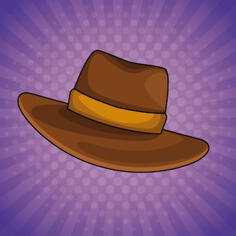 Fumetto del cappello maschio dell'annata di pop art
