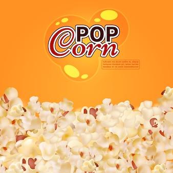Modello della bandiera di pop corn