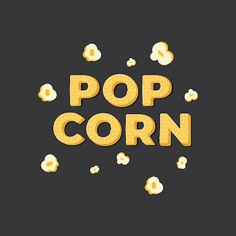 Pop corn, lettering banner