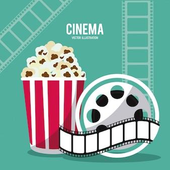 Icona del cinema film di pop corn