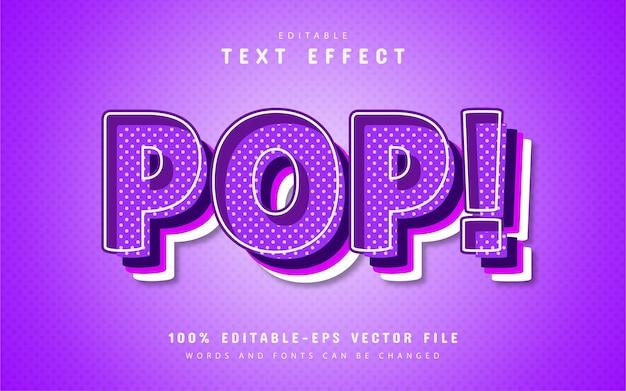 Effetto di testo modificabile pop