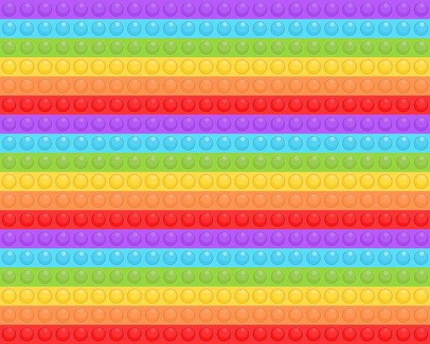 Pop it modello senza soluzione di continuità. colorato giocattolo sensoriale antistress fidget push pop it.