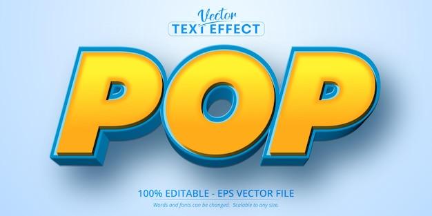 Testo pop, effetto di testo modificabile in stile cartone animato