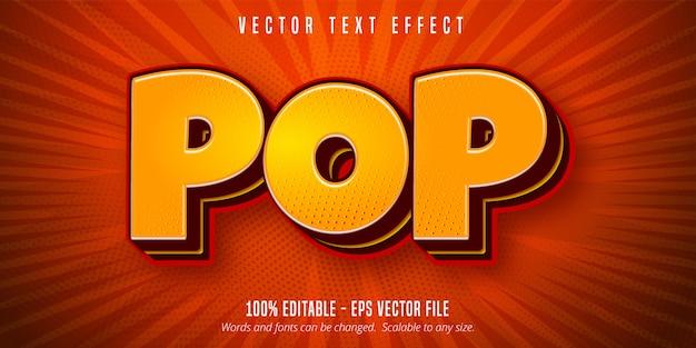 Testo pop, effetto di testo modificabile in stile pop art