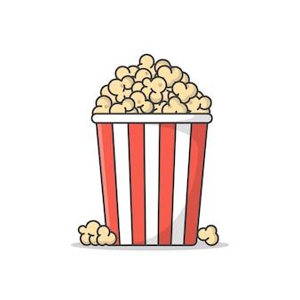 Popcorn icona illustrazione isolato