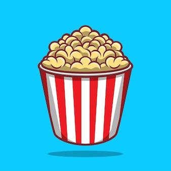 Icona di popcorn illustrazione