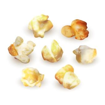 Set di popcorn isolato su sfondo bianco, illustrazione