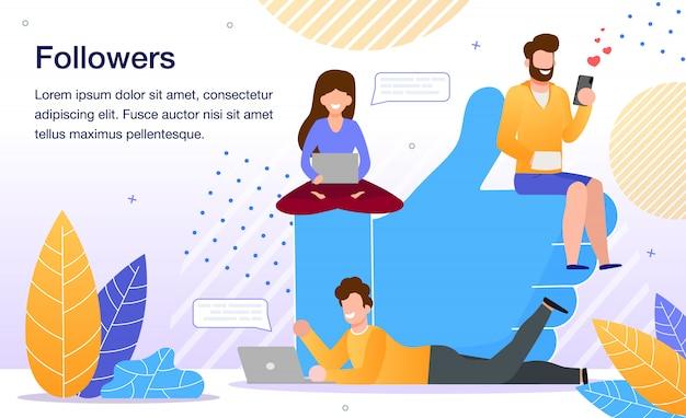 Popolarità nei social network piatti