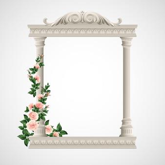 Portico un antico tempio. illustrazione di colonne