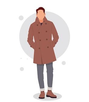 Ritratto di un uomo in posa in abiti eleganti