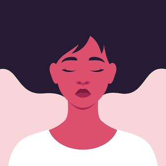Ritratto di una giovane donna triste che soffre di stress