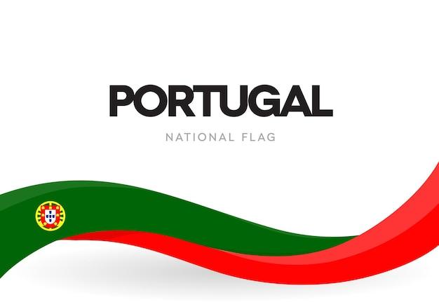 Bandiera sventolante portoghese