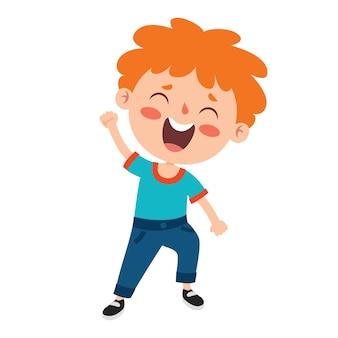 Pose ed espressioni di un ragazzo divertente