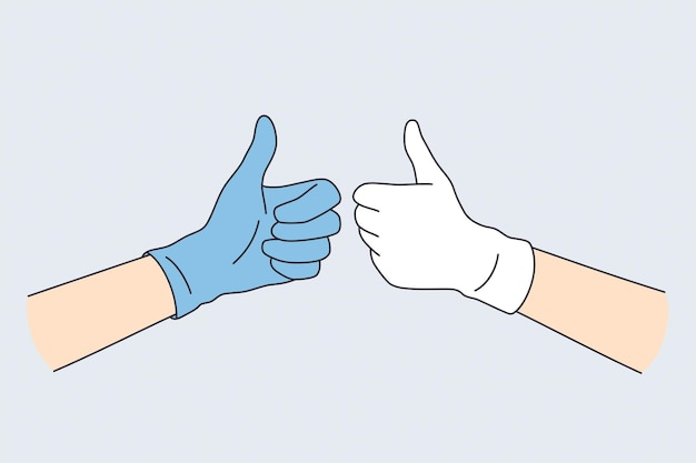 Emozioni positive nel concetto di gesti.