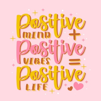 Lettering positivo con messaggio