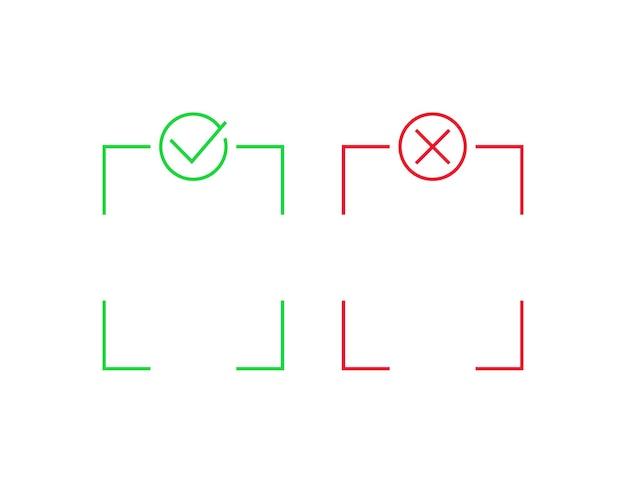 Positivo e negativo, disegno vettoriale di linea