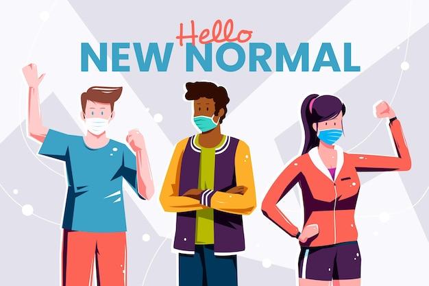 Le persone positive che affrontano la nuova normalità
