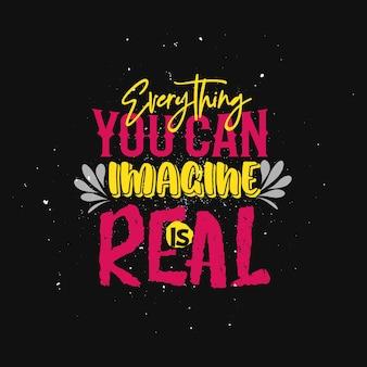 Poster ispiratore tipografico positivo con design tshirt motivazione di vita