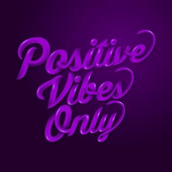 Vibrazioni positive solo citazioni di detti motivazionali