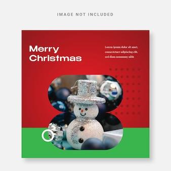 Post instagram modello di design natalizio