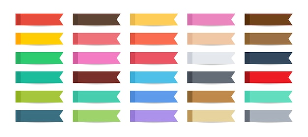 Post note sticky index paper set con ombra.