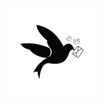 Post piccione logo moderno grassetto
