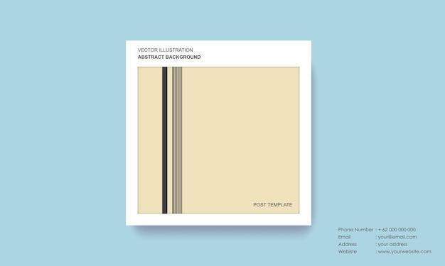 Modello di post con concetto moderno di sfondo astratto