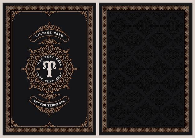 Un modello di cartolina in stile vintage, perfetto per cartoline di natale, inviti di nozze e molti altri usi.