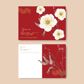 Modello di cartolina con il concetto di matrimonio viola lilla,stile acquerello
